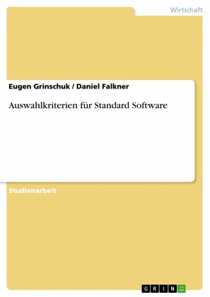 Auswahlkriterien für Standard Software