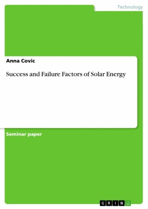 Success and Failure Factors of Solar Energy