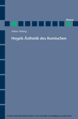 Hegels Ästhetik des Komischen