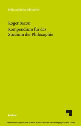 Kompendium für das Studium der Philosophie