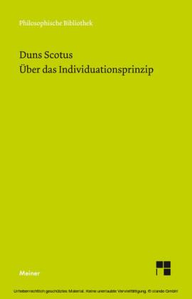 Über das Individuationsprinzip