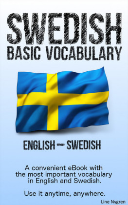 Basic Vocabulary English - Swedish