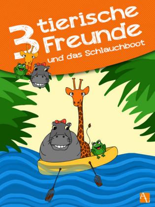 Drei tierische Freunde - und das Schlauchboot