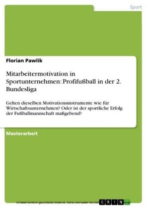 Mitarbeitermotivation in Sportunternehmen: Profifußball in der 2. Bundesliga
