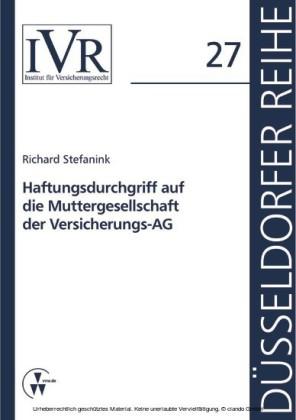 Haftungsdurchgriff auf die Muttergesellschaft der Versicherungs-AG