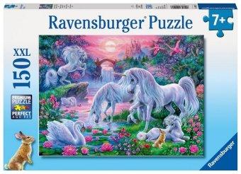 Einhörner im Abendrot (Puzzle)
