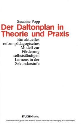 Der Daltonplan in Theorie und Praxis