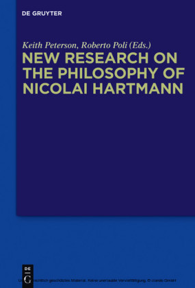 New Research on the Philosophy of Nicolai Hartmann
