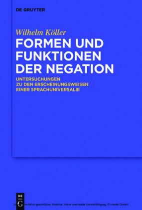 Formen und Funktionen der Negation