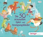 Die 50 schönsten Spiel- und Bewegungslieder, 3 Audio-CDs Cover