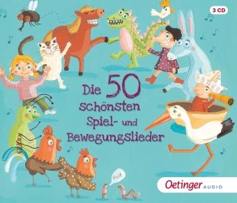 Die 50 schönsten Spiel- und Bewegungslieder, 3 Audio-CDs