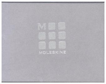 Moleskine Brieftasche Lineage, Leder, horizontal, blau avio