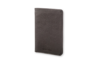 Moleskine Reisepass-Brieftasche Lineage, Leder, schwarz