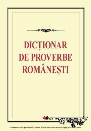 Dictionar de proverbe românesti