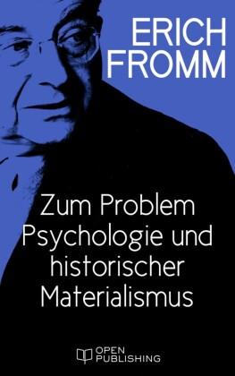 Zum Problem Psychologie und historischer Materialismus