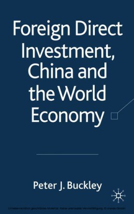 Foreign Direct Investment, China and the World Economy