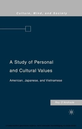 A Study of Personal and Cultural Values