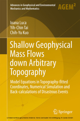 Shallow Geophysical Mass Flows down Arbitrary Topography