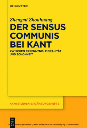 Der sensus communis bei Kant