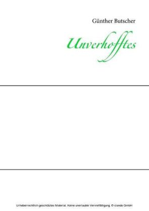 Unverhofftes