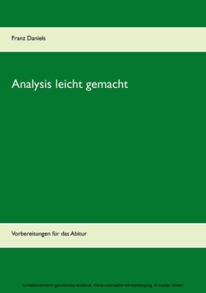 Analysis leicht gemacht