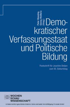 Demokratischer Verfassungsstaat und politische Bildung