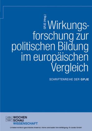Wirkungsforschung zur politischen Bildung im europäischen Vergleich