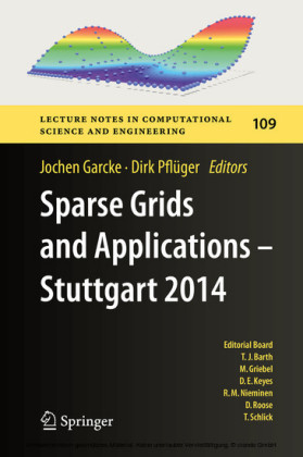 Sparse Grids and Applications - Stuttgart 2014