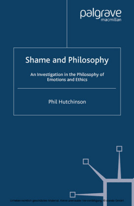 Shame and Philosophy