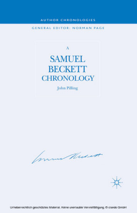 A Samuel Beckett Chronology