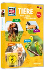 Tiere - Hunde, Katzen, Pferde, Heimtiere, 4 DVDs Cover