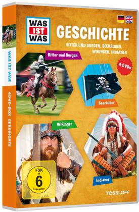 Was ist was: Geschichte - Ritter und Burgen, Seeräuber, Wikinger, Indianer