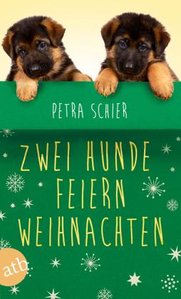 Zwei Hunde feiern Weihnachten