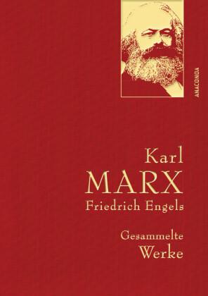 Karl Marx / Friedrich Engels - Gesammelte Werke (Leinenausg. mit goldener Schmuckprägung)