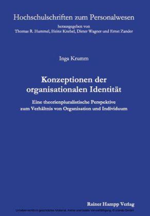 Konzeptionen der organisationalen Identität
