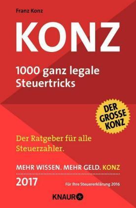 Konz - 1000 ganz legale Steuertricks 2017