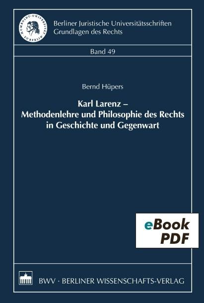 Rechtswissenschaft methodenlehre pdf der