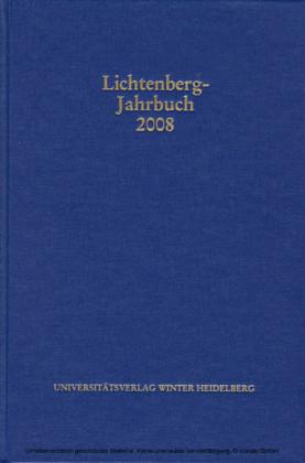 Lichtenberg-Jahrbuch 2008