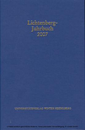 Lichtenberg-Jahrbuch 2007