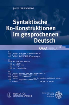 Syntaktische Ko-Konstruktionen im gesprochenen Deutsch