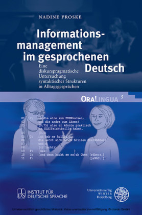 Informationsmanagement im gesprochenen Deutsch