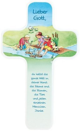 Die ganze Welt in Gottes Hand, Kinderholzkreuz