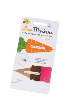 Line Markers Food - Magnetische Lesezeichen