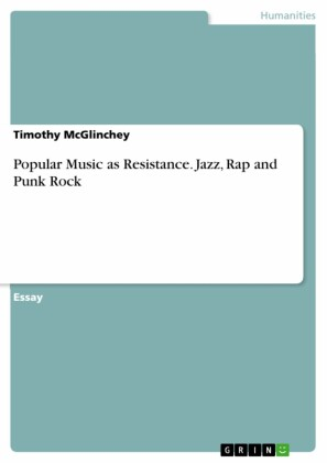 Popular Music as Resistance. Jazz, Rap and Punk Rock
