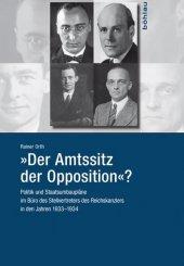 """""""Der Amtssitz der Opposition""""? Cover"""