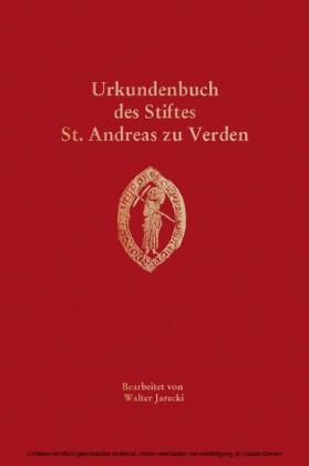 Urkundenbuch des Stiftes St. Andreas zu Verden