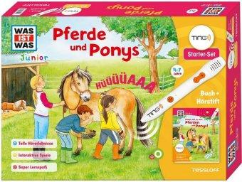 Pferde und Ponys, TING-Starter-Set m. Buch u. Hörstift