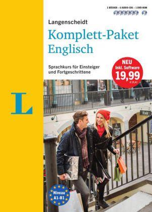 Langenscheidt Komplett-Paket Englisch - Sprachkurs mit 2 Büchern, 6 Audio-CDs, 1 DVD-ROM, MP3-Download