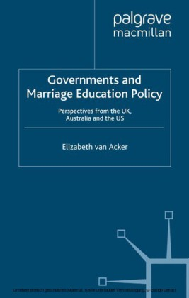 Governments and Marriage Education Policy