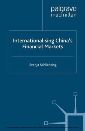 Internationalising China's Financial Markets